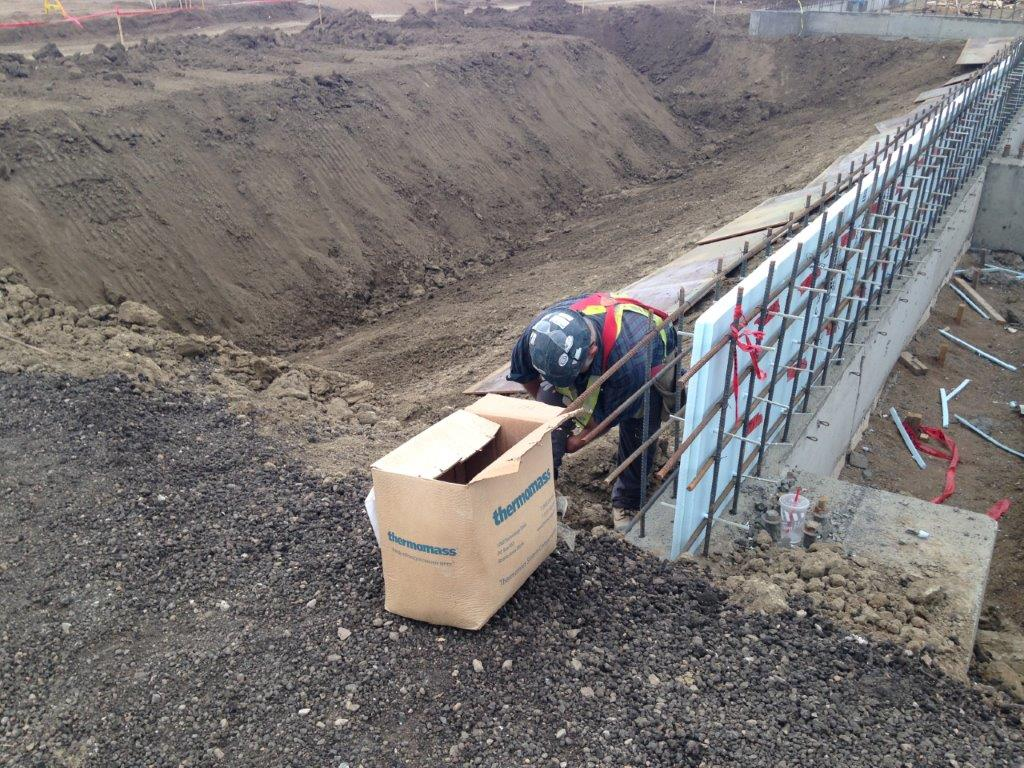 man working with concrete